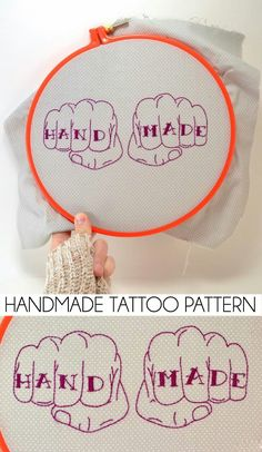 knuckle tattoo embroidery