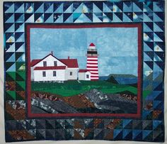 Pattern  West Quoddy Lighthouse quilted wall by quiltsbyelsie, $10.50