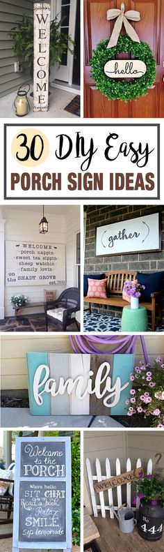 Simple DIY front porch signs are an inexpensive and fun way to add a bit of rustic charm to your entryway. They're also a great project for both dedicated artists and the creatively challenged alike since you can either hand letter your sign or use stencils or pre-cut letters for more uniform l...