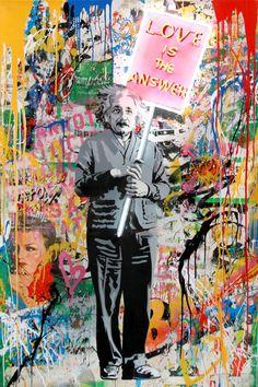 Street Art Banksy, Banksy Graffiti, Doodle Wall, Mr Brainwash, Trippy Tapestry, Galleries In London, Italian Artist, Mixed Media Canvas, Street Artists
