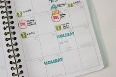 December | Clearly Kelly Planner Stamps | juli makes things