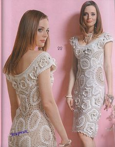 Gold Crochet: crochet dress
