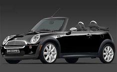 all black convertible Mini Cooper