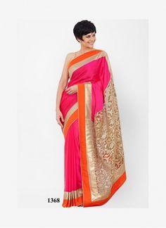 Mandira Bedi Pink Saree At Day 2 LFW Summer/Resort 2014