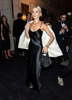 """""""The arrivals at Ralph's Club, a one night only night club hosted in a private Art Deco inspired bank on Wall Street for the Ralph Lauren SS 2020 RTW show"""" Nyc Instagram, First Night, Night Club, Silk Dress, Art Deco, Ralph Lauren, Wall Street, Inspiration, Inspired"""