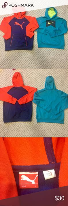 Boys Nike & Puma Hoodies sweatshirts in L size Boys Nike & Puma Hoodies sweatshirts in L size, still in good condition. Nike & Puma Shirts & Tops Sweatshirts & Hoodies