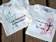 Precious in His Sight - Christian Baby Onesie by LoveMakingsAndDesign on Etsy