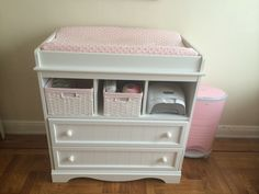 South Shore - Savannah Changing Table and Dresser Pure White - Home Furniture Design White Changing Table Dresser, Changing Table Topper, Adams Furniture, Furniture Design, Furniture Inspiration, Pure White, Savannah, Baby Room