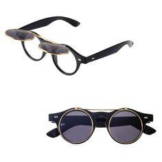 Flip Up Sunglasses Round