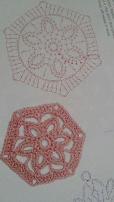 Crochet Blocks, Granny Square Crochet Pattern, Crochet Diagram, Crochet Stitches Patterns, Crochet Round, Doily Patterns, Crochet Chart, Crochet Squares, Irish Crochet