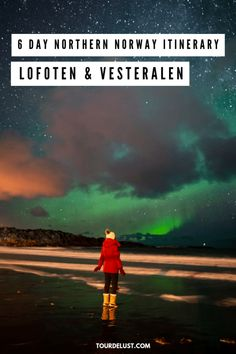 Looking for the perfect winter destination? Here's a 6 day northern Norway itinerary through Lofoten & Vesteralen to see the northern lights! Northern Lights Norway, See The Northern Lights, Lofoten, Norway Travel Guide, Norway Winter, Travel List, Travel Guides, European Destination, Winter Travel