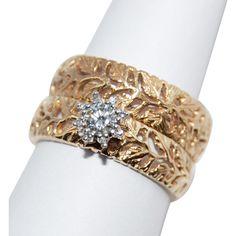 Spectacular! Vintage 18K Gold Traub Orange Blossom Diamond and Leaves  from sailorsuevintage on Ruby Lane