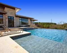 tanning ledge different color than the pool - safety feature?  Tanning Ledge Design, Pictures, Remodel, Decor and Ideas