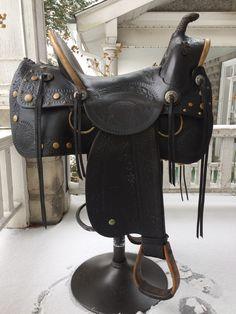 SOLD! - Nice vintage parade type saddle   www.facebook.com/VintageSaddles   circa: 1920's-30's