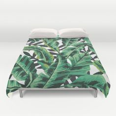 Buy ultra soft microfiber Duvet Covers featuring Tropical Glam Banana Leaf Print by Nikki. Hand sewn and meticulously crafted, these lightweight Duvet Cover vividly feature your favorite designs with a soft white reverse side.