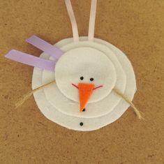 """Мастерим подвеску """"Снеговик"""" - Ярмарка Мастеров - ручная работа, handmade"""