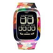 Swatch Watch, Unisex Swiss Digital Trouble Effect Multi-Color Printed Silicone Strap 39mm SURW104