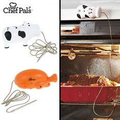 Moo!  Your meat is done!  The Chef Pals meat thermometer let you know when your beef, poultry and pork is cooked to perfection.