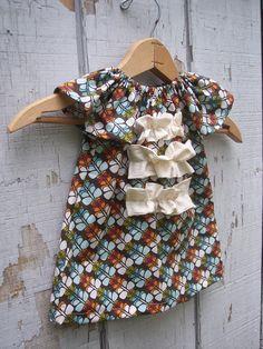 Fall baby girl dresses.. ORGANIC Fall Butterfly ruffle dress