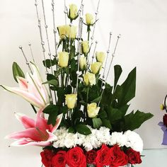 Order flowers online Pune | Blooms Only A bunch of red roses, yellow roses, pink lily and carnation would be nice gift for your most loveable person in your life. Get these sweet flowers from our Blooms Only online florist.  Order this bouquet for special person in your life with warm wishes and make them happy. Click here: http://www.bloomsonly.com/order-pink-roses-flowers-to-congratulate