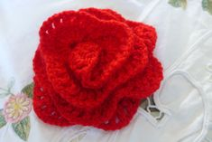 Flower Brooch Pin Red Acrylic Handmade Crocheted For Clothes Scarfs Hats Bags   Jewelry & Watches, Fashion Jewelry, Pins & Brooches   eBay!