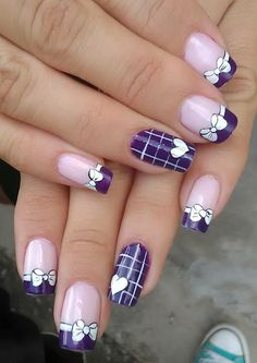 The problem is so many nail art and manicure designs that you'll find online Fancy Nails, Pretty Nails, Simple Gel Nails, Cruise Nails, Valentine Nail Art, Purple Nails, Neon Nails, French Tip Nails, Stamping Nail Art