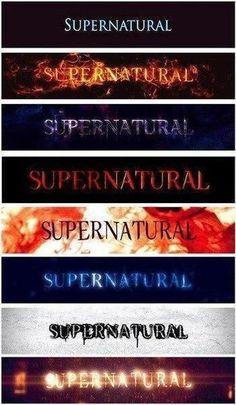 Supernatural 8 Seasons title cards