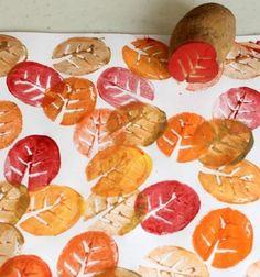 Őszi falevél alakú krumpli nyomda gyerekeknek / Mindy -  kreatív ötletek és dekorációk minden napra