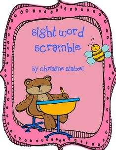This is a sight word scramble. Students use the word bank to help them unscramble the sight words. This is a great follow up activity after you've ...