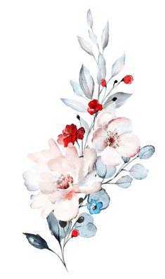 Loose Floral watercolor process video by Leah Bisch Studio watercolor art Realistic Flower Drawing, Simple Flower Drawing, Easy Flower Drawings, Flower Art, Drawing Flowers, Beautiful Flower Drawings, Floral Drawing, Tattoo Flowers, Simple Flowers