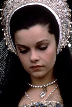 Anne Boleyn's stunning coronation outfit from ANNE OF THE THOUSAND DAYS (1969) . Anne was played by Genevieve Bujold