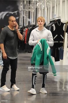 Justin Bieber is seen in a store on December 13, 2016 in Los Angeles, CA.