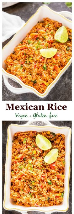 PinterestFacebookTwitterGoogle+Easy Vegetarian Mexican Rice – serve is as a side or as the main dish with tacos, burritos & more. Vegan & gluten-free… Ingredients [ For 4 to 5 people ] [ Preparation time : 18 minute – Cooking time : 35 minutes ] 1 cup basmati... Continue Reading →