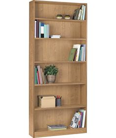 Maine Tall Wide Bookcase Oak Effect At Argos Co Uk Your