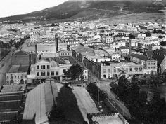 View from City Hall towards the East. Buitenkant Street running left to right (and vice versa), foreground. Old Pictures, Old Photos, Back In Time, Historical Pictures, Woodstock, Cape Town, Continents, South Africa, Paris Skyline