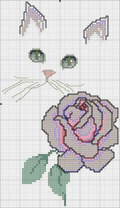 camélia - grille (voir fils et ouvrage brodé)