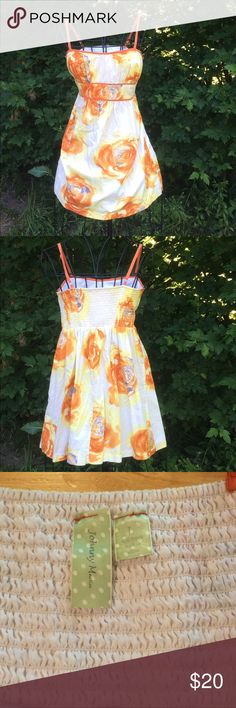 Johnny Martin Sundress This sundress has a beautiful floral pattern. Adjustable straps and elastic along the upper  back for a comfy fit. 100% cotton. Super cute 👗 Johnny Martin Dresses