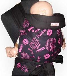 Mei Tai Baby Sling - Pink Lip Prints