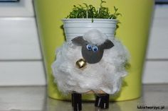 Lubię Tworzyć: Baranek wielkanocny z rolki po papierze toaletowym...