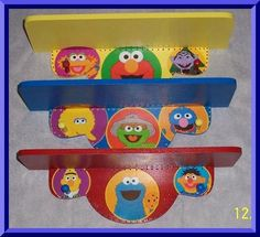 Lovely Sesame Street Shelf