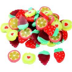 Fruit Slice Erasers - scented?