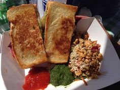 Bombay Sandwich with a Burmese Cabbage Salad Burmese Food, Cabbage Salad, Chutney, Farmers Market, Food Photo, Street Food, Sandwiches, Spices, Homemade