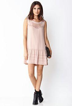 Vintage-Inspired Drop Waist Dress   FOREVER 21 - 2000091026