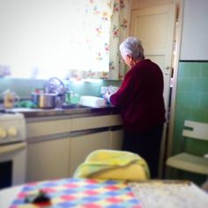 This is Our Nonna - cooking in her kitchen .  #Ournonnaskitchen #nonna #italy #bovino #italian #goodfood #brighton&shove