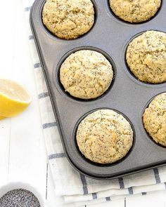 These lemon poppy seed muffins are sweet, tangy and so lemony. Perfect for breakfast or as a snack!