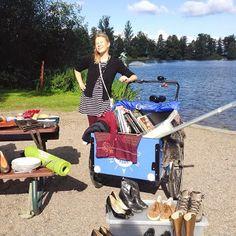 #Cargobike boot sale in Lahti, Finland.  By Ilona Reiniharju http://instagram.com/kivakuvako