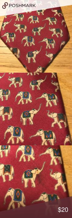 Jim Thompson Silk Tie This tie is 100% Silk and has a few flaws. Three of the pictures show everything Jim Thompson  Accessories Ties