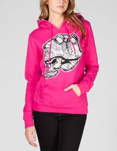 Metal Mulisha Wildfire fleece pullover hoodie. Lace print Metal Mulisha logo screened on chest. Kangaroo pocket. Drawstring hood. 80% cotton/20% polyester. Machine wash. Imported.