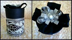 DIY Decorated Jar Diy Decorate Jars, Decorated Jars, Napkin Rings, Home Decor, Homemade Home Decor, Mason Jars, Decoration Home, Napkin Holders, Interior Decorating