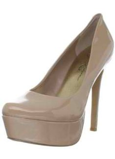 Jessica Simpson Women's Waleo Patent Pump,Nude M US. Made in China. Man Made Sole. Heel Height: Over 5 Inch. This Shoe Fits True to Size. Nude Shoes, Nude Pumps, Pumps Heels, High Heels, Women's Shoes, Le Closet, Jessica Simpson Pumps, Platform Pumps, Women's Accessories